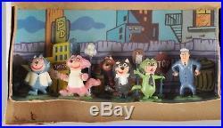 Vintage TV Tinykins Marx Playset Flintstones, Top Cat, Yogi Bear Original 1960s