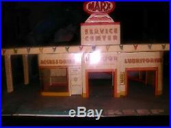 Vintage Tin Litho MARX Service/Gas Station Center1950's