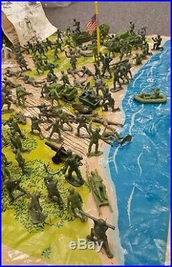 Vintage World War II Battle Of Navarone Giant Play Set Louis Marx Toys USA Old