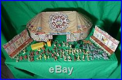 Vintage1950, s Marx Super Circus Collection Tent Side show lots of people