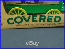 VintageMarx 1370-P Pioneer Covered Wagon with Horses and AccessoriesShips Free