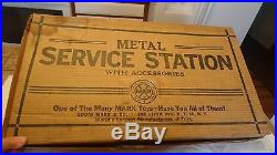 Vtg 1953 MARX Service Station W Original Box & All Accessories In Original Bags