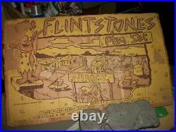 Vtg. 60's-Louis Marx The Flintstones Playset No. 4672/Hanna-Barbera/N. M. Pieces