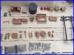Vtg 60s Marx THE UNTOUCHABLES Playset ACCESSORIES & TIN BUILDINGS