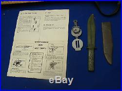 Vtg MARX Bolt Action TRAINING RIFLE w BOX Playset 1960's ARMY TOY free shipping