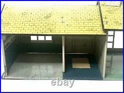 Vtg TIN LITHO RANCH FURNITURE Marx Doll House ACCESSORIES Metal Home Toy Playset
