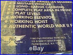 Vtg Ww 2 Phoenix 1983 Toy Navarone Giant Army Figures Mountain Playset Marx Box