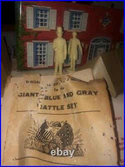 WOW c1961 vintage Marx The BLUE And The GRAY Giant Playset w original box