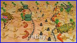 WWII North Africa Campaign Playset #1 The Desert Fox 54mm Plastic Soldiers