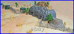 WWII Pacific Campaign Playset #2 Island Battle 54mm Plastic Toy Soldiers