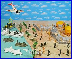 WWII Pacific Campaign Playset #3 The Raid 54mm Plastic Toy Soldiers